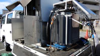 病院 非常用発電機(AY20L-500H)消防法に基づく擬似負荷運転試験