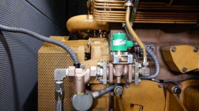 消火ポンプ用エンジン(S16N-PTK) 電磁弁交換